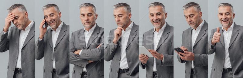 Professional businessman photo collage Stock photo © stokkete