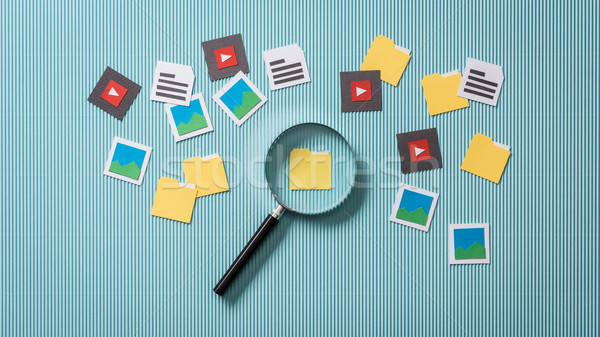 File search and analysis Stock photo © stokkete