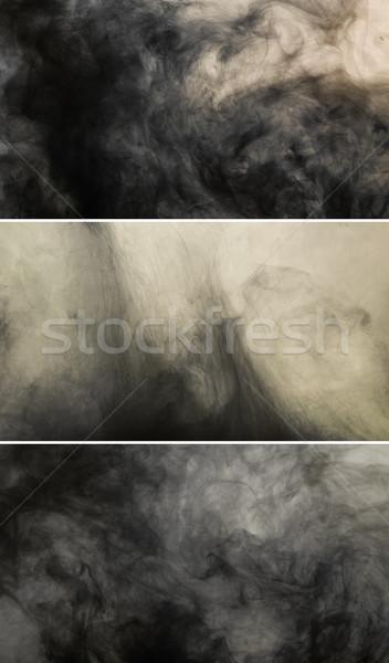 Dark ink spill flowing in water Stock photo © stokkete