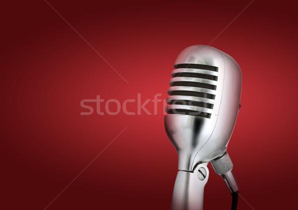 Retró stílus zene mikrofon beszél hang hátterek Stock fotó © stokkete