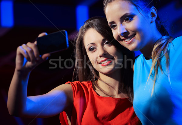Two women enjoying with a smartphone Stock photo © stokkete