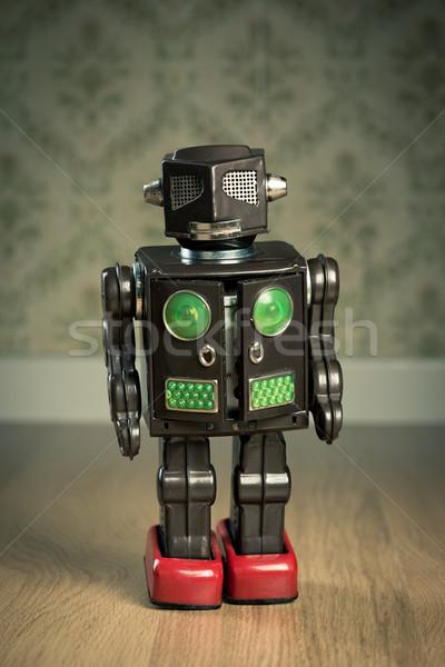 Vintage estaño juguete robot funny Foto stock © stokkete