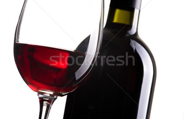 Vinho tinto degustação excelente garrafa de vinho copo de vinho branco Foto stock © stokkete