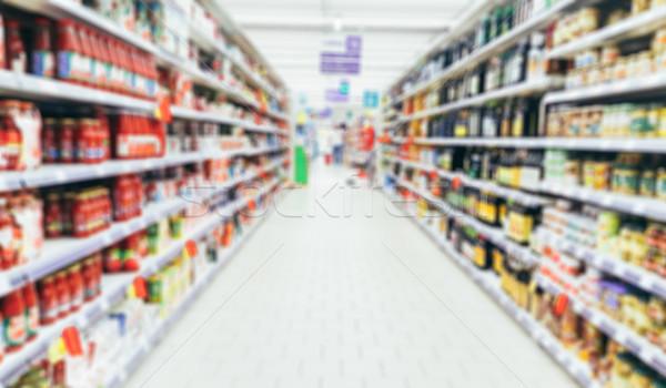 Defocused supermarket aisle Stock photo © stokkete
