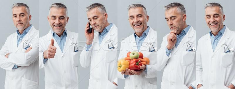 Professionnels médecin photo collage médecins portraits Photo stock © stokkete