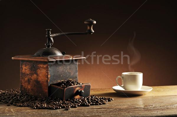 Daráló kávéscsésze étel művészet űr bolt Stock fotó © stokkete