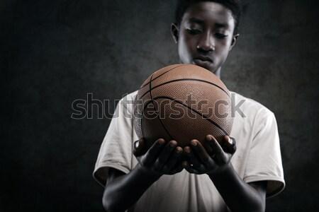 Vrouw boksen bokser zwarte meisje macht Stockfoto © stokkete