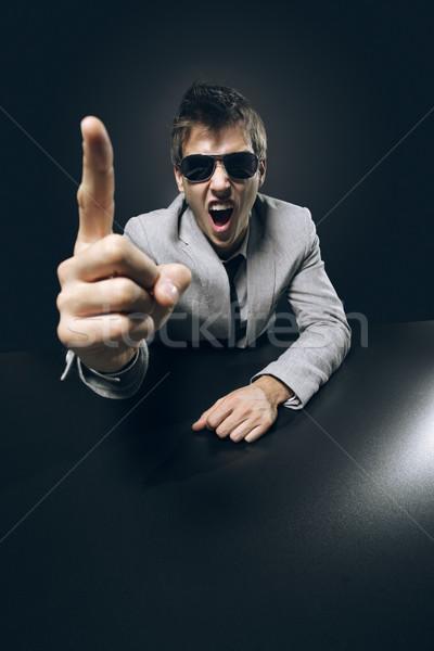 Aggressive business Stock photo © stokkete