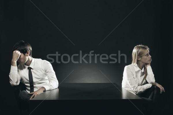 Stosunku trudności nieszczęśliwy nudzić para posiedzenia Zdjęcia stock © stokkete