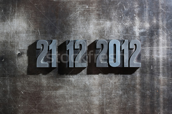 antique metal letter-press typ: Doomsday 21. December 2012 Stock photo © stokkete