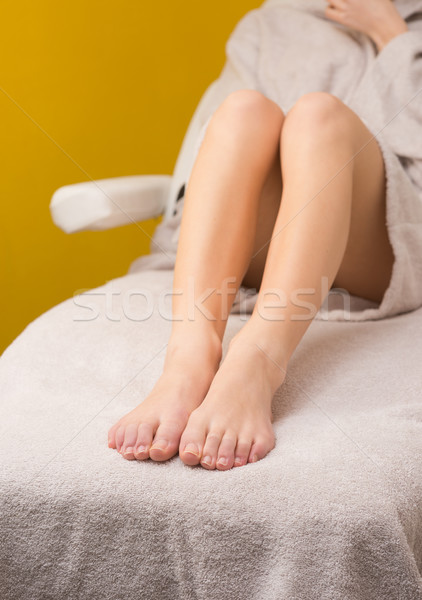Depilação com cera tratamento estância termal mulher pernas pele Foto stock © stokkete