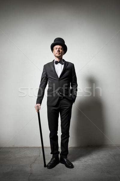 Cavalheiro olhando homem Foto stock © stokkete