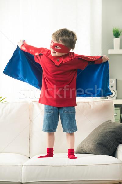 Little superhero with super powers Stock photo © stokkete