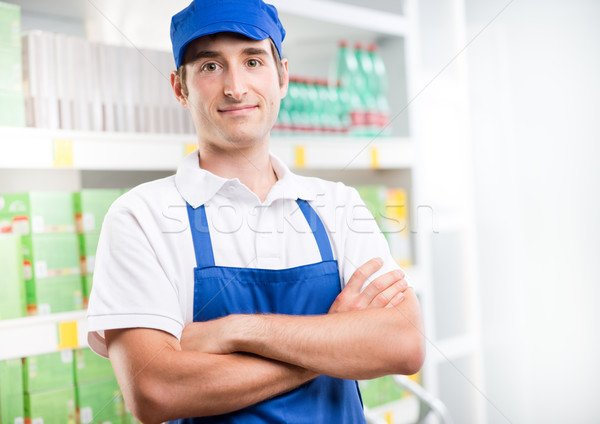 Young supermarket worker Stock photo © stokkete