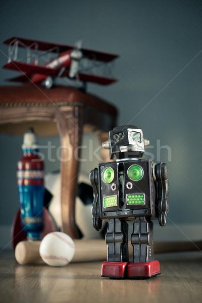 Vintage toy robot Stock photo © stokkete