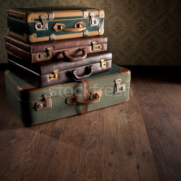 Stack of vintage suitcases Stock photo © stokkete