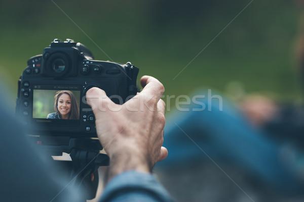 Photo shooting outdoors Stock photo © stokkete