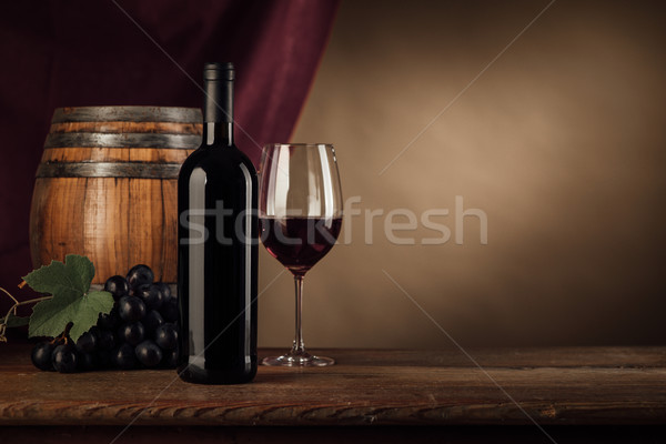 Wine tasting in the cellar with glass Stock photo © stokkete