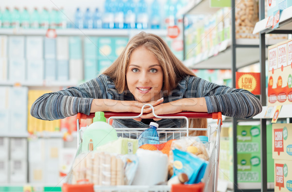 Shopping at the discount store Stock photo © stokkete