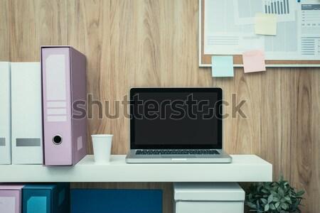 бизнеса workspace ноутбука шельфа служба Сток-фото © stokkete