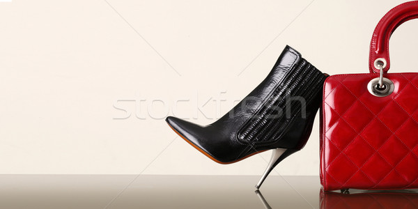 shoes and handbag, fashion photo Stock photo © stokkete