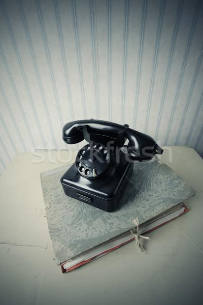 öreg fekete telefon boglya iratok üzlet Stock fotó © stokkete