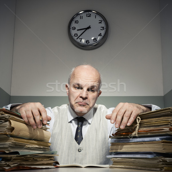 Overworked businessman Stock photo © stokkete