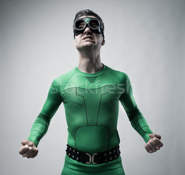 Funny superhero snarling Stock photo © stokkete
