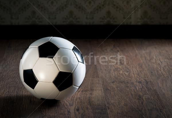 Futbol topu futbol top egzersiz Stok fotoğraf © stokkete