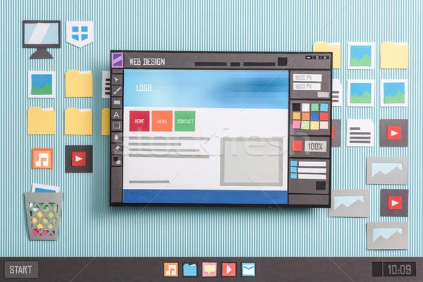 веб-дизайна программное веб страница макет Сток-фото © stokkete