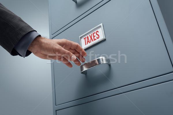 Biuro plików szafka otwarcie Zdjęcia stock © stokkete