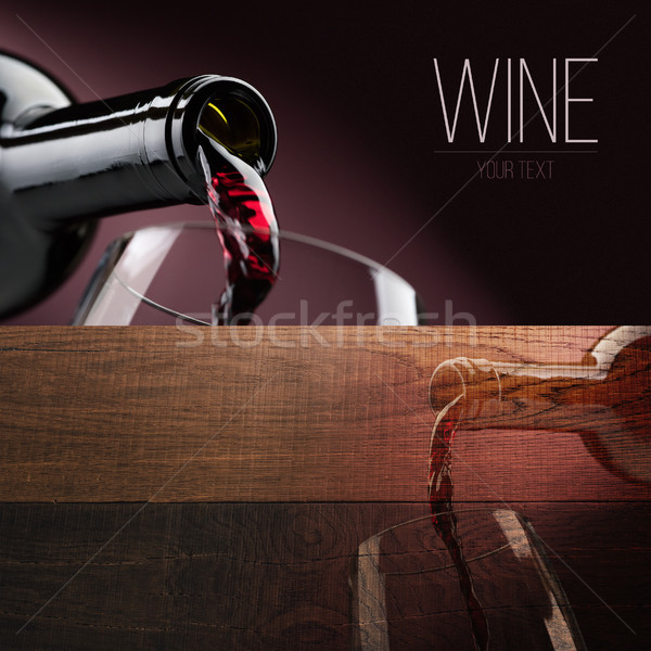 Wijnproeven banner ingesteld uitstekend rode wijn proeverij Stockfoto © stokkete