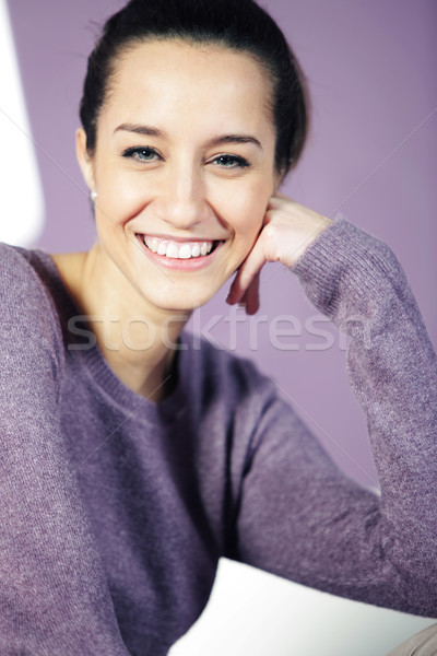 portrait of a beautiful young woman Stock photo © stokkete