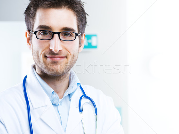 Smiling doctor close-up Stock photo © stokkete