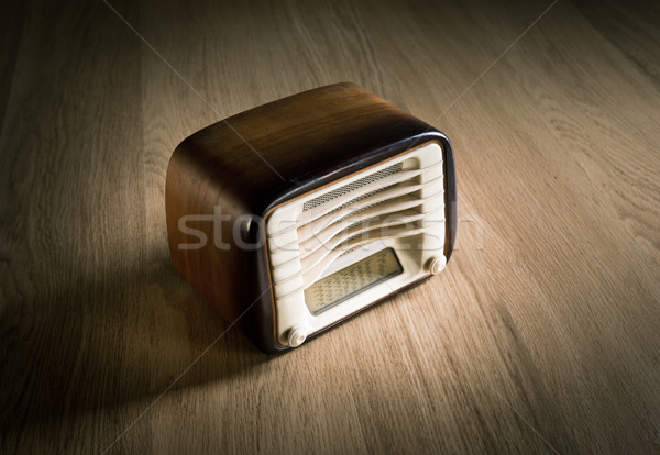 Vintage radio on a desk Stock photo © stokkete