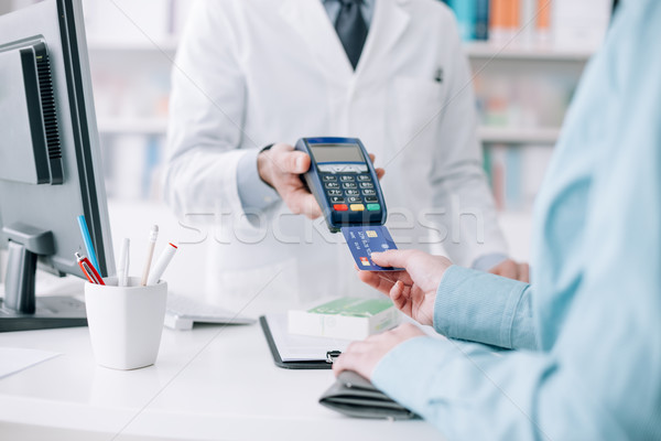Woman purchasing medical products Stock photo © stokkete