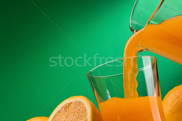 Suco de laranja vidro fresco laranjas Foto stock © stokkete