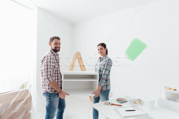 пару движущихся обстановка молодые счастливым Сток-фото © stokkete