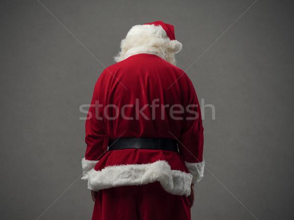 Santa Claus back view Stock photo © stokkete
