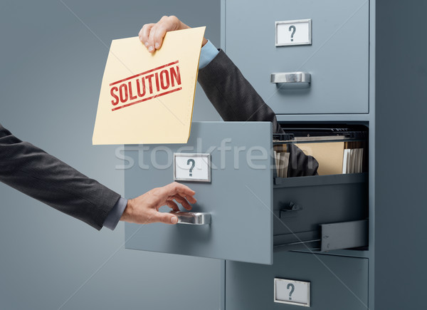 Business solution and problem solving Stock photo © stokkete