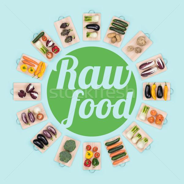 Rauw voedsel gezond eten vers gezonde groenten Stockfoto © stokkete