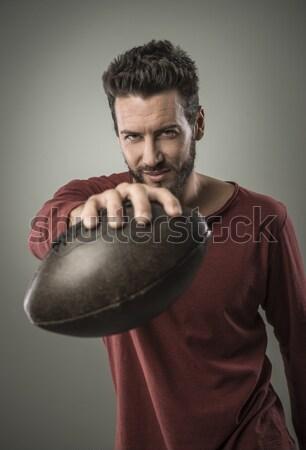 Cool młody człowiek pistolet agresywny człowiek Zdjęcia stock © stokkete