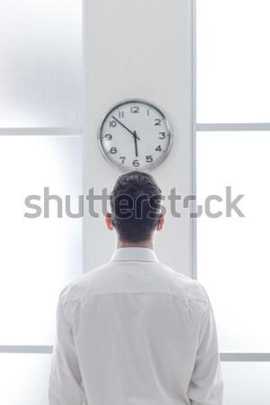 ビジネスマン クロック オフィス 背面図 時間 ストックフォト © stokkete