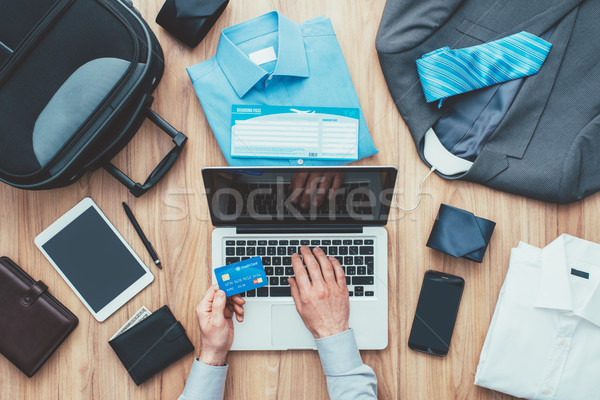 Işadamı planlama iş gezisi kurumsal çanta Stok fotoğraf © stokkete