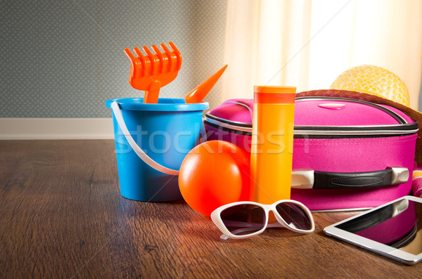 Summer vacations with tablet Stock photo © stokkete