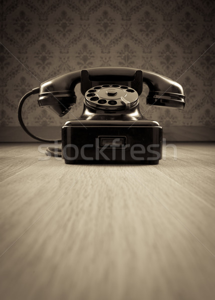 Black 1950s phone Stock photo © stokkete