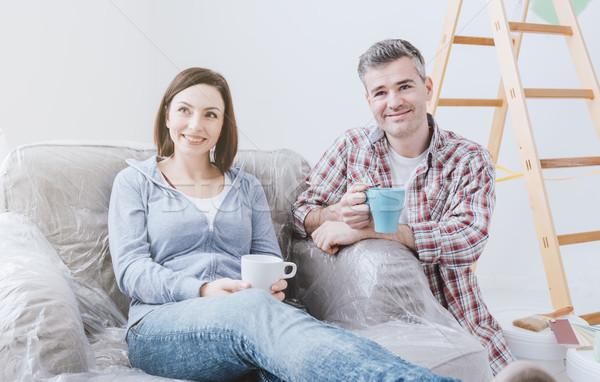 Couple doing home renovations Stock photo © stokkete