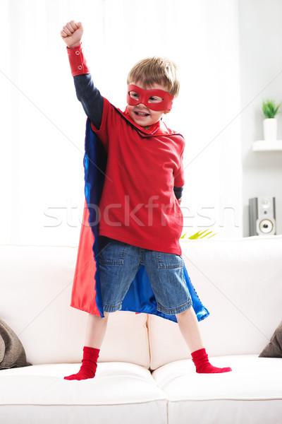 Superhero boy Stock photo © stokkete