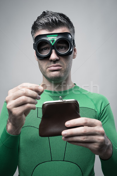 безденежный superhero пусто кошелька депрессия Сток-фото © stokkete