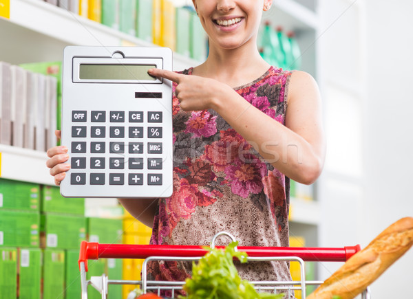 Budget friendly shopping at supermarket Stock photo © stokkete